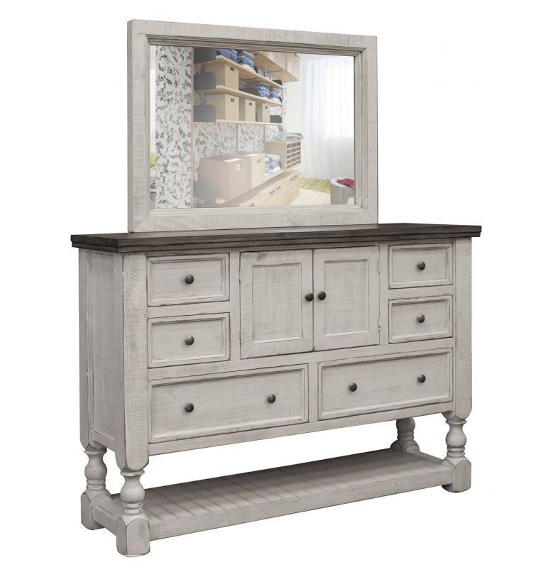 Picture of Stone Dresser and Mirror