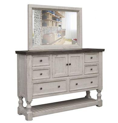 Stone Dresser and Mirror