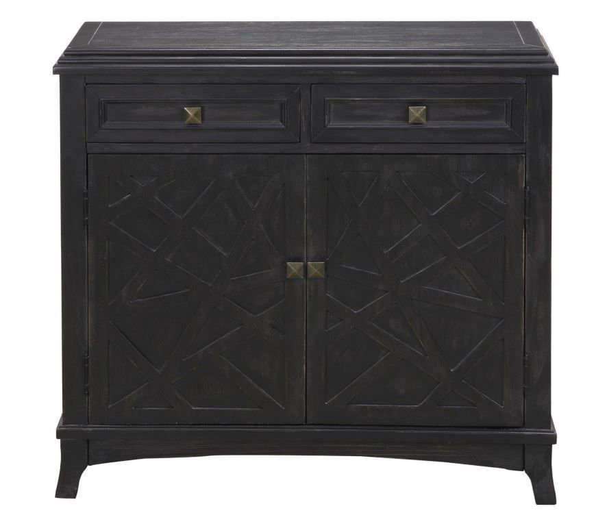 Picture of Emerson Black Two Drawer Two Door Credenza