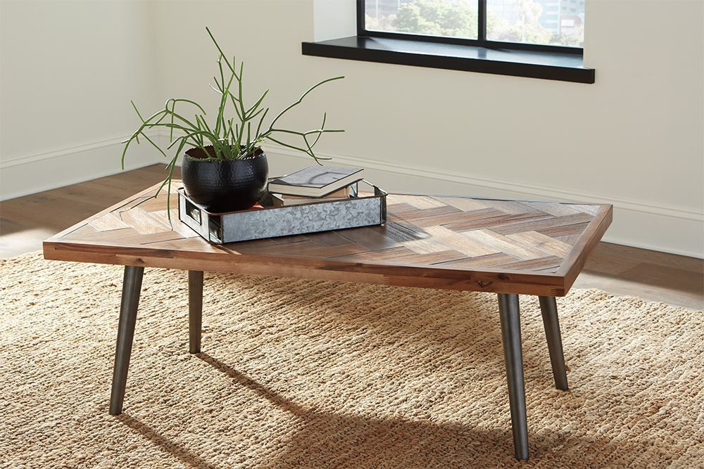 Picture of Vantori Brown Rectangular Cocktail Table