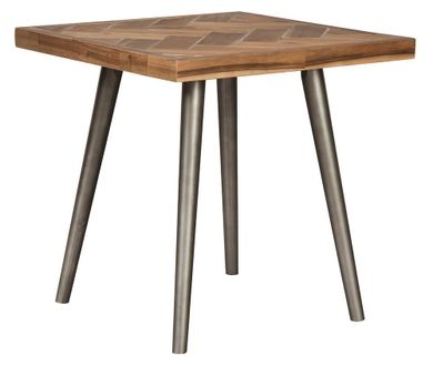 Vantori Brown Square End Table