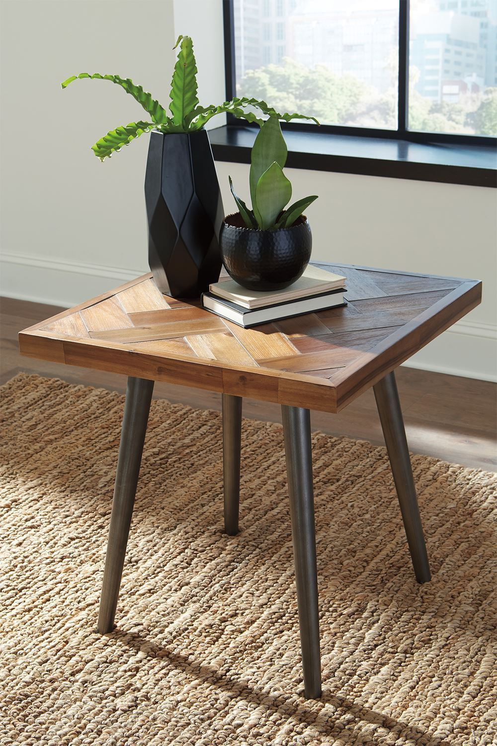 Picture of Vantori Brown Square End Table
