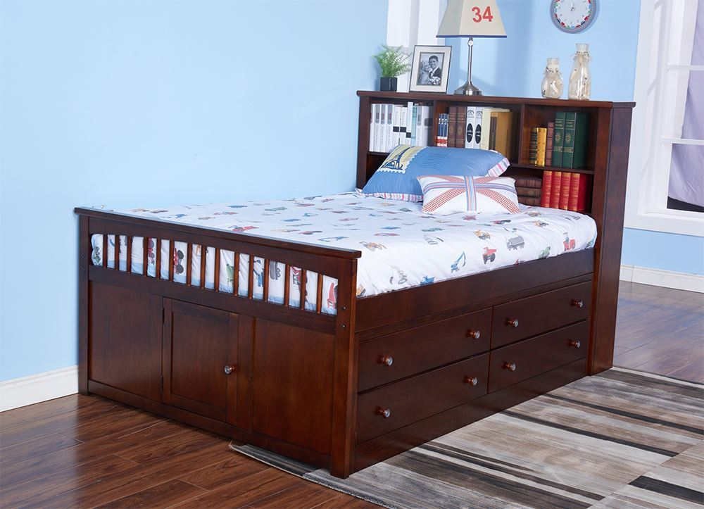 Picture of Seaside Full Captain Bed Set