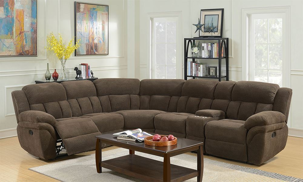 Picture of Santorini Connan Chocolate Six Piece Sectional