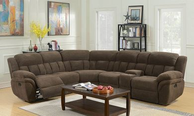 Santorini Connan Chocolate Six Piece Sectional