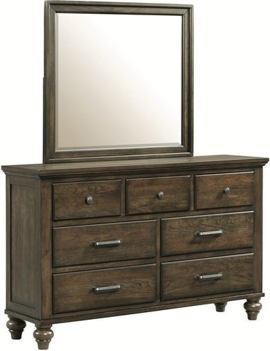Chatham Grey Dresser and Mirror Set