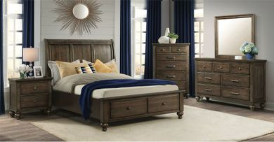 Chatham Grey King Storage Bedroom Set