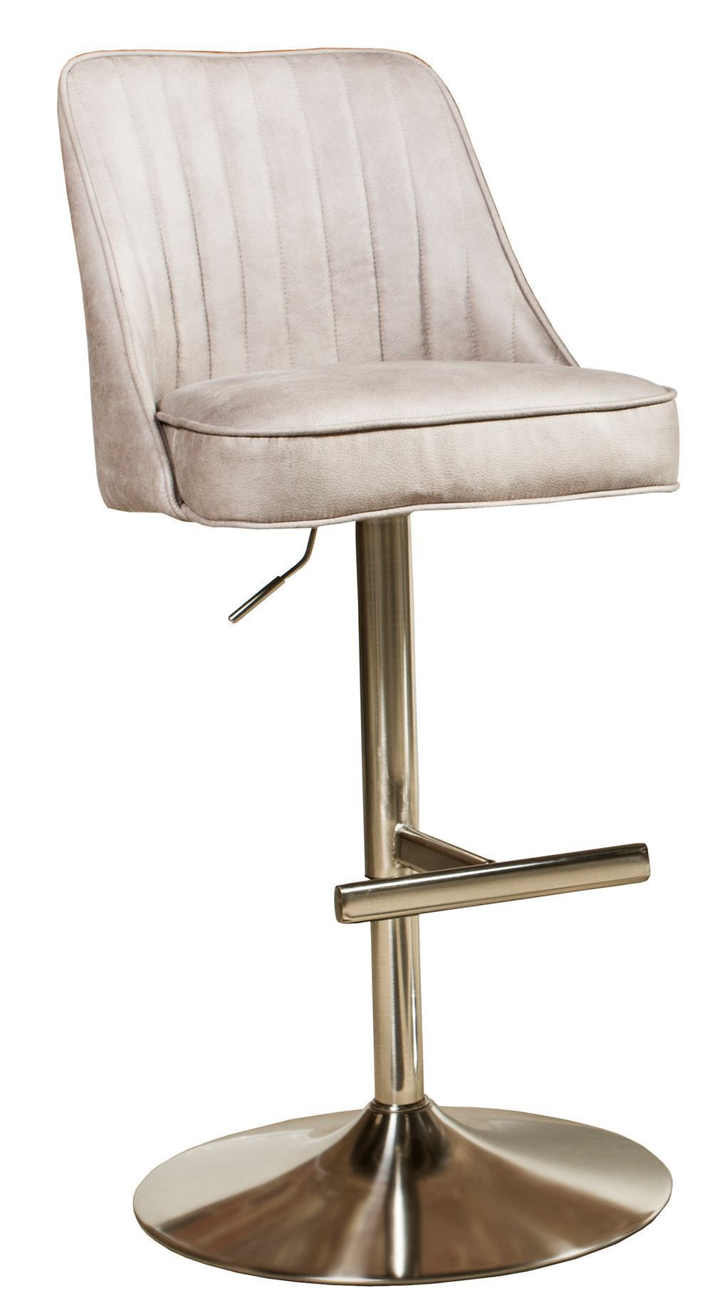 Picture of Savoy Light Grey Brushed Chrome Barstool