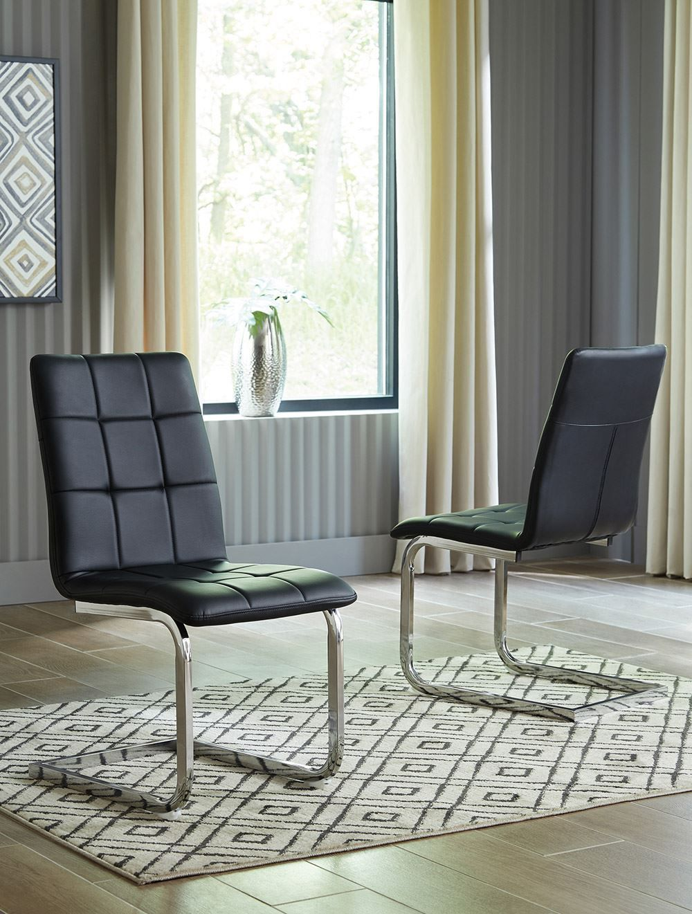 Picture of Madanere Black Upholstered Side Chair