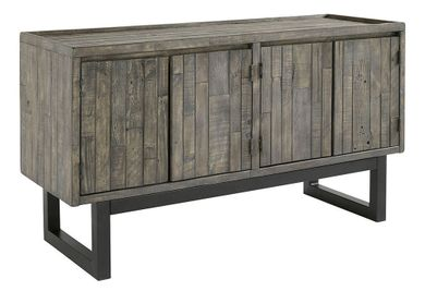 Cazentine Gray Brown Accent Cabinet