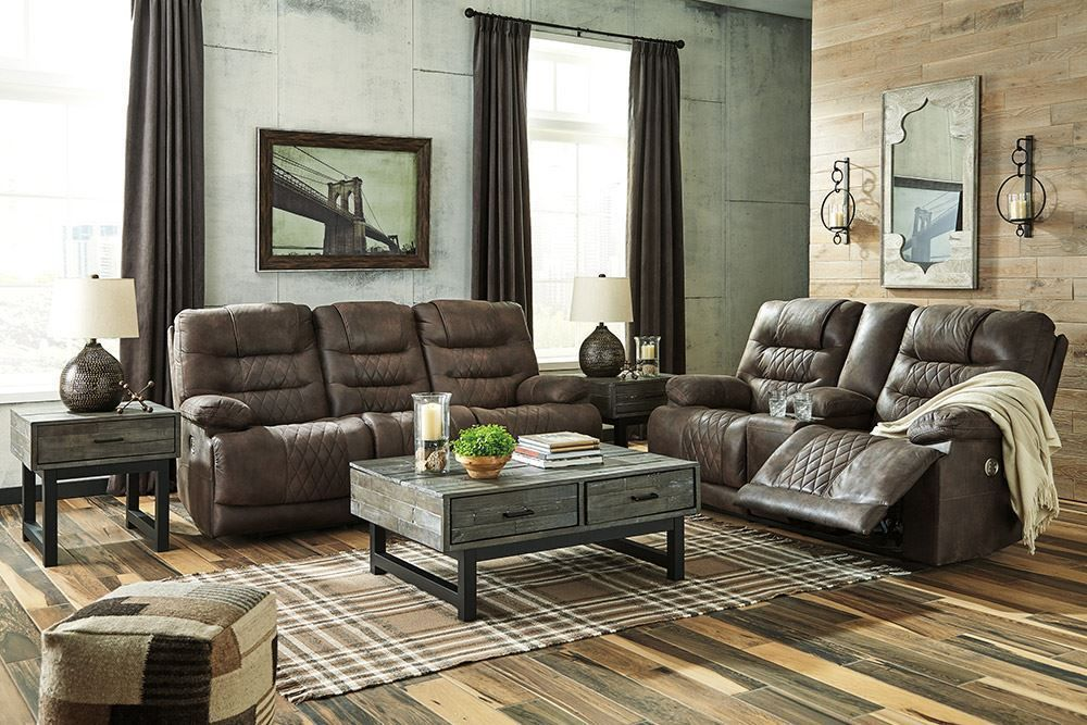 Picture of Welsford Walnut Power Reclining Console Loveseat