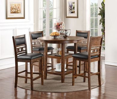 Gia Brown Counter Table with Four Stools