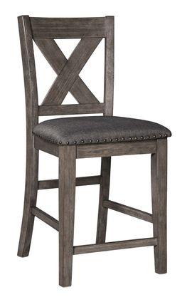 Caitbrook Upholstered X-Back Stool