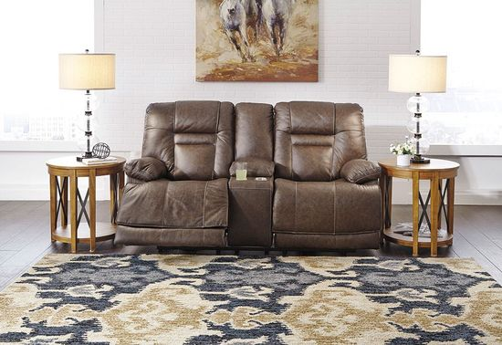 Picture of Wurstrow Umber Power Reclining Console Loveseat