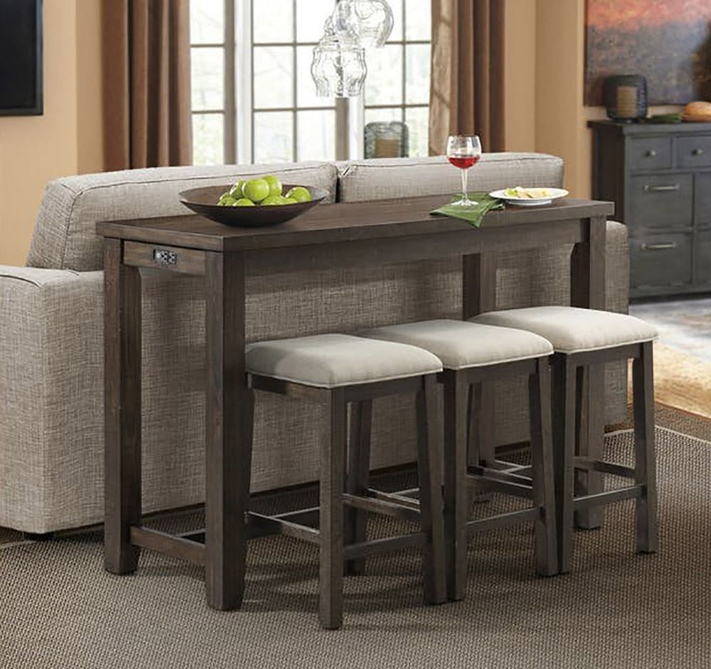 Picture of Stone Bar Table with Three Stools