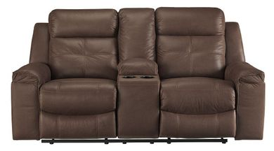 Jesolo Coffee Reclining Console Loveseat