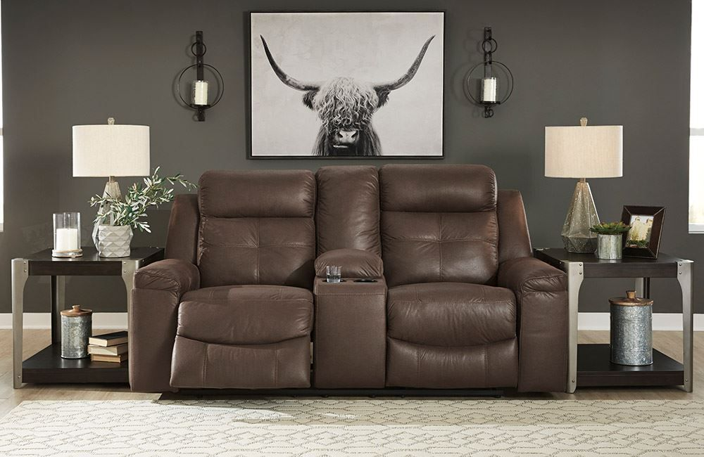 Picture of Jesolo Coffee Reclining Console Loveseat