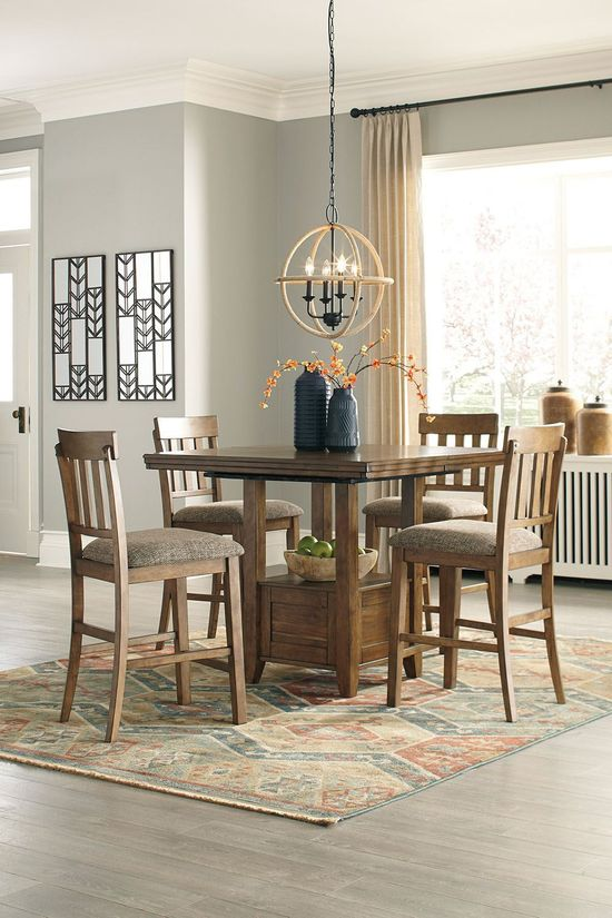 Picture of Flaybern Counter Table with Four Stools