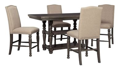 Audberry Counter Table with Four Stools