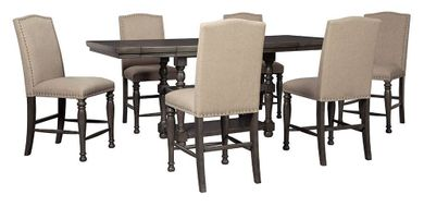 Audberry Counter Table with Six Stools