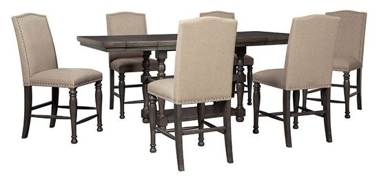 Picture of Audberry Counter Table with Six Stools