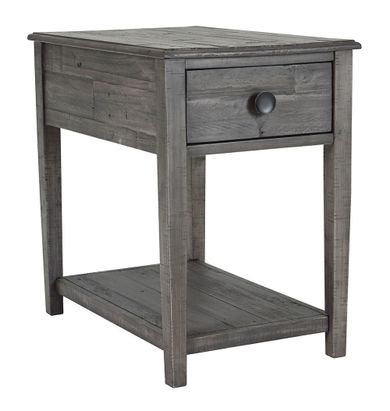 Borlofield Dark Gray Rectangular End Table
