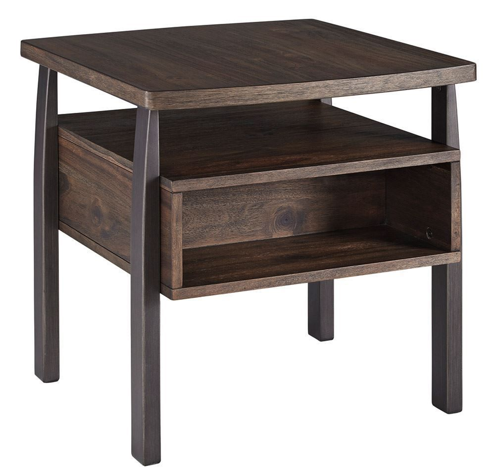 Picture of Vailbry Brown Rectangular End Table