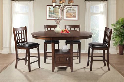 Picture of Max Cherry Pub Table with Four Chairs