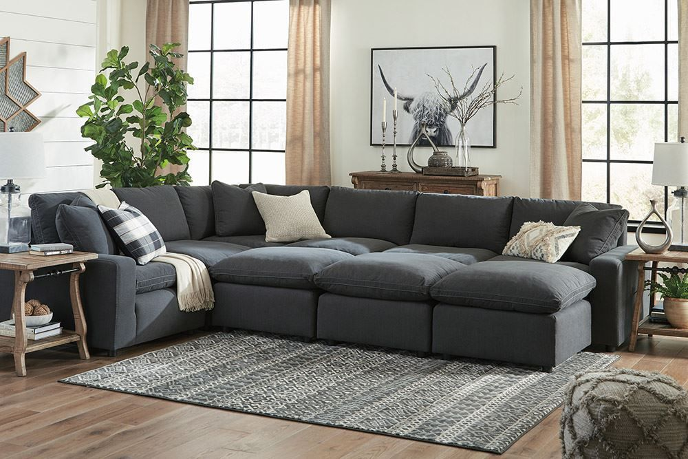Picture of Savesto Charcoal Six Piece Sectional
