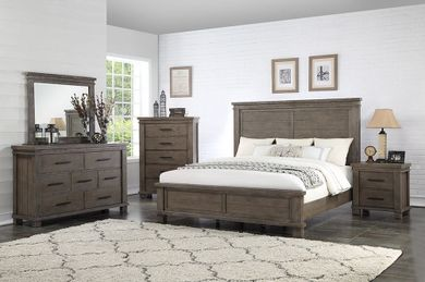 Easton Square Grey King Bedroom Set
