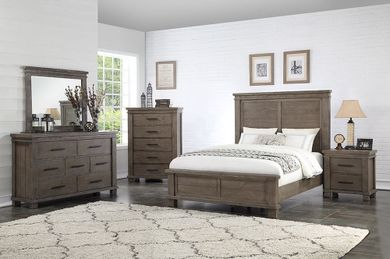 Easton Square Grey Queen Bedroom Set