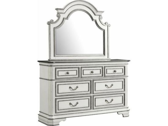 Picture of Leighton Manor Antique White Dresser and Mirror