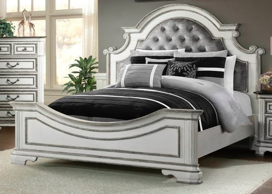 Picture of Leighton Manor Antique White King Bed Set