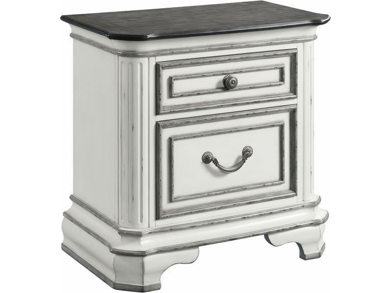 Picture of Leighton Manor Antique White Nightstand with USB