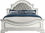 Leighton Manor Antique White Queen Bed Set