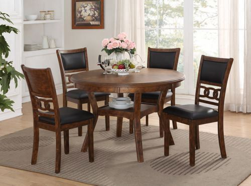 Picture of Gia Brown Dining Table with Four Chairs