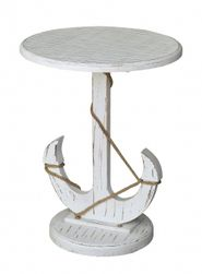 Harbor White Anchor Table