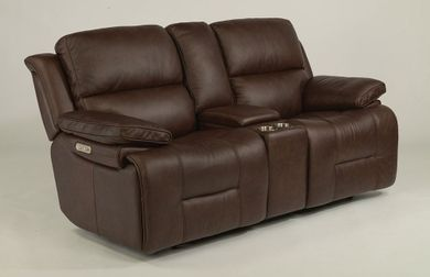 Apollo Brown Power Reclining Console Loveseat