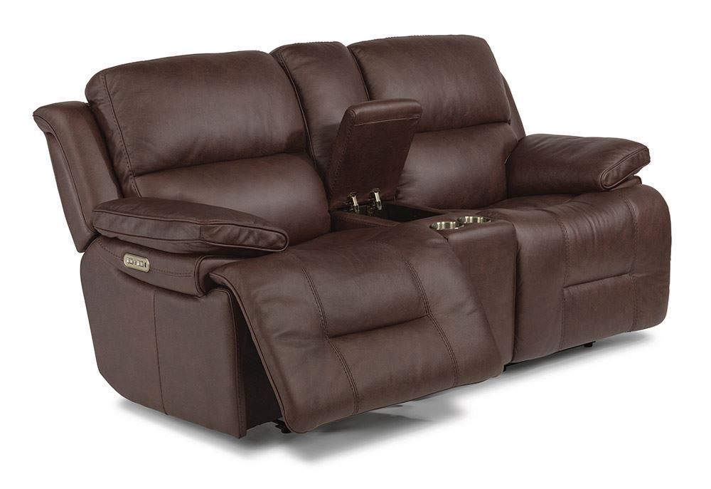 Picture of Apollo Brown Power Reclining Console Loveseat