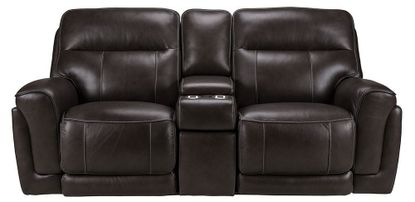 Ferrara Smoke Power Reclining Console Loveseat