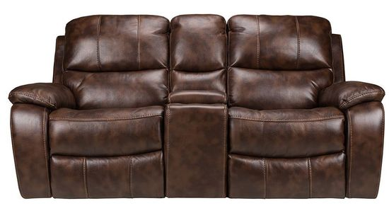 Picture of Cognac Glider Console Loveseat