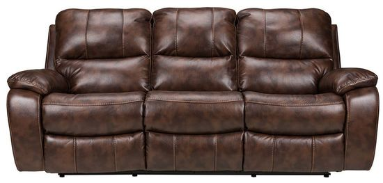 Cognac Dual Reclining Sofa The Furniture Mart