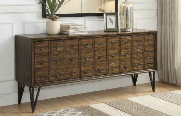 Picture of Oxford Distressed Brown Three Door Credenza