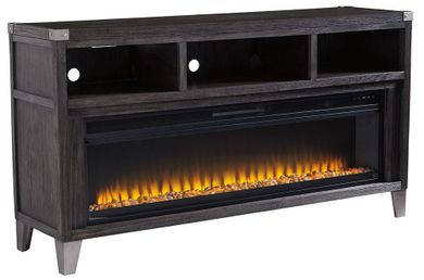 Todoe Large TV Stand with Fireplace Insert