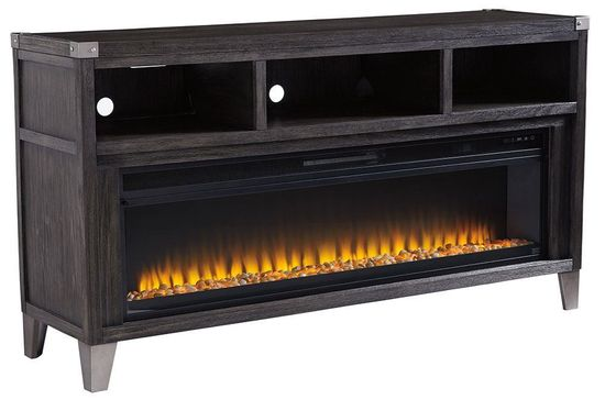 Picture of Todoe Large TV Stand with Fireplace Insert