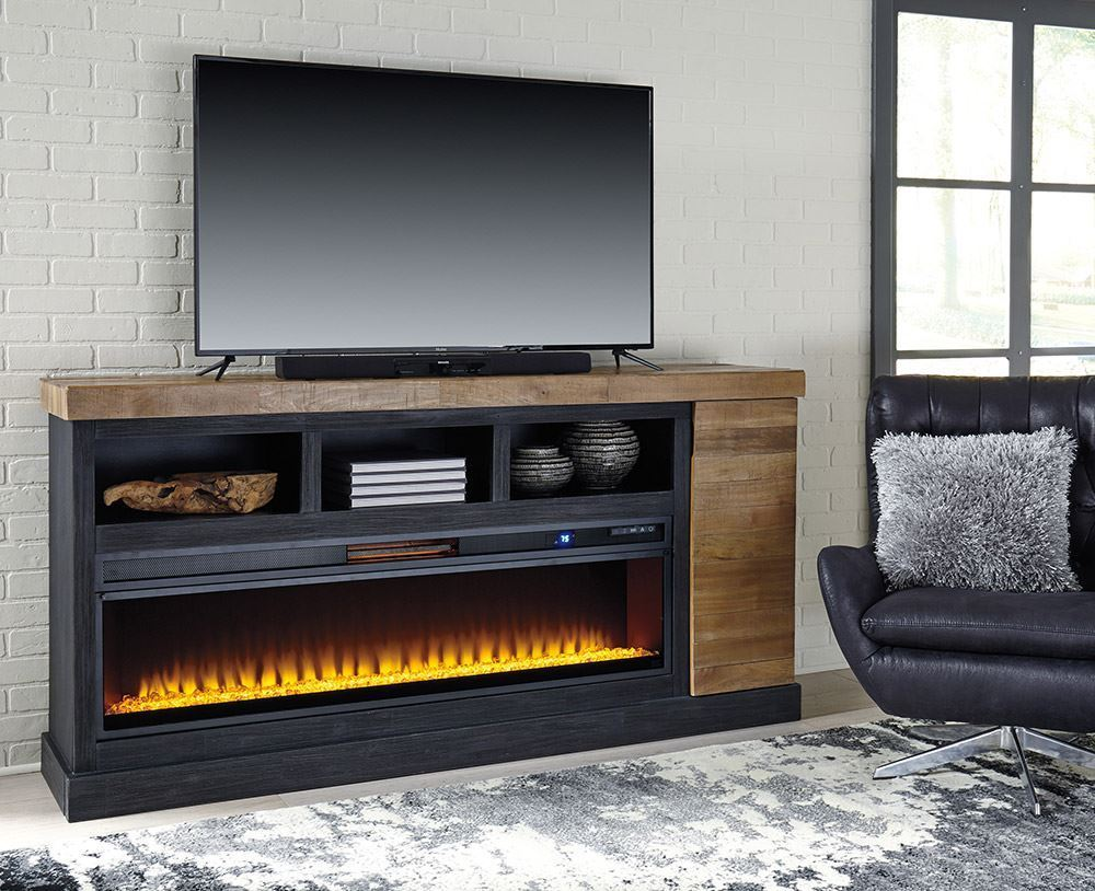 Tonnari Tv Stand With Fireplace Insert The Furniture Mart
