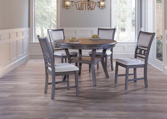 Picture of Gia Grey Dining Table with Four Chairs