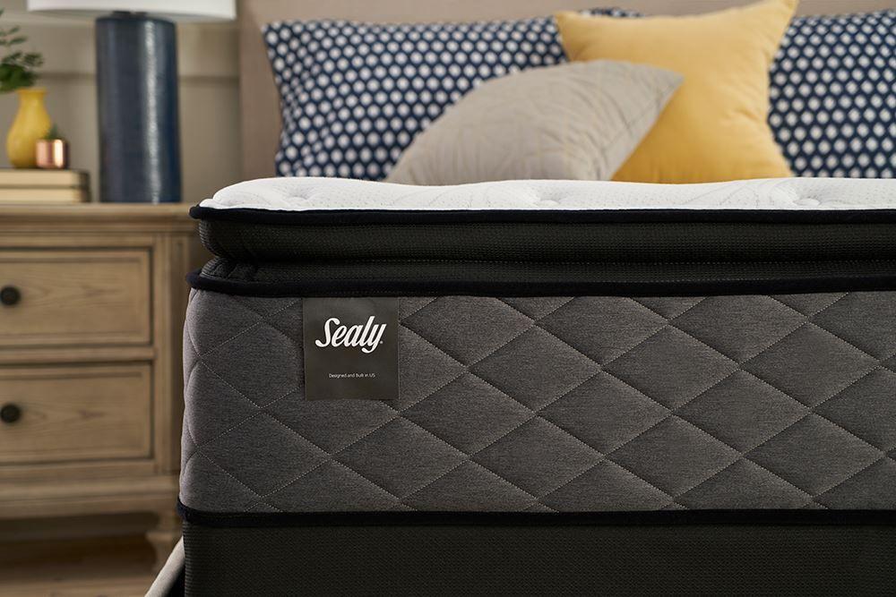 Picture of Sealy Surrey Lane Plush Euro Pillowtop Queen Mattress Set