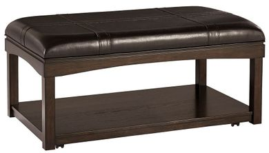Haddigan Brown Ottoman Cocktail Table