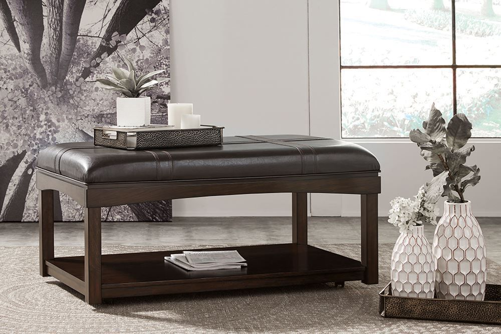 Picture of Haddigan Brown Ottoman Cocktail Table
